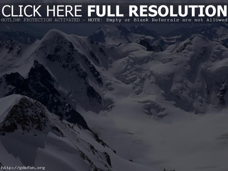 Обои Горы, снег, скалы фото картики заставки