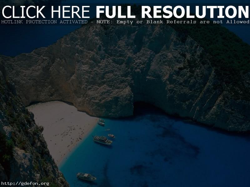 Обои Греция, остров, лагуна фото картики заставки
