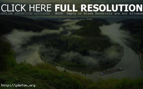 Обои Туман над рекой фото картики заставки