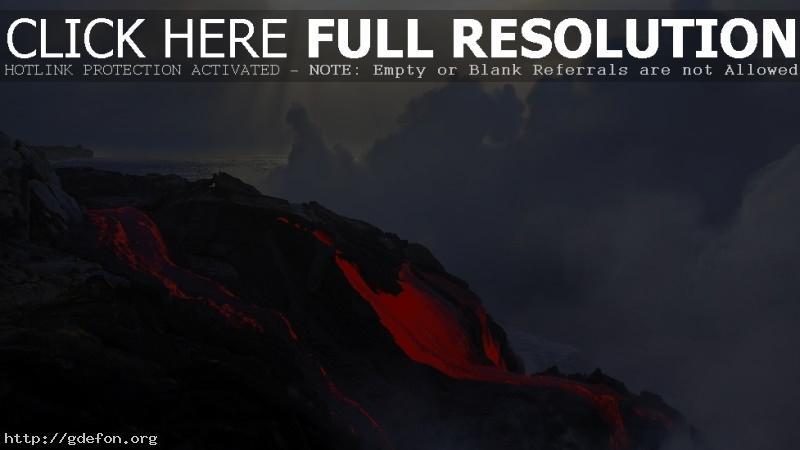 Обои Вулкан, лава, извержение фото картики заставки