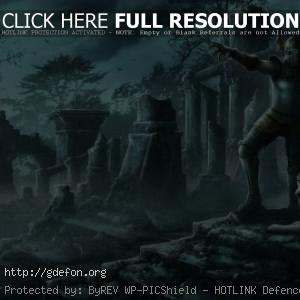 Рыцарь среди древних руин