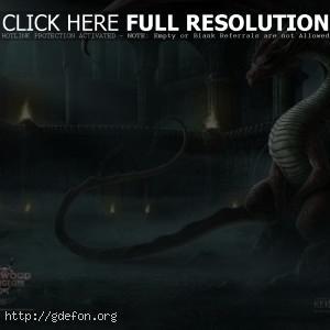 Дракон в подземелье