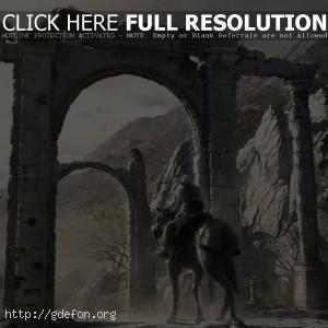 Ассасин верхом на лошади