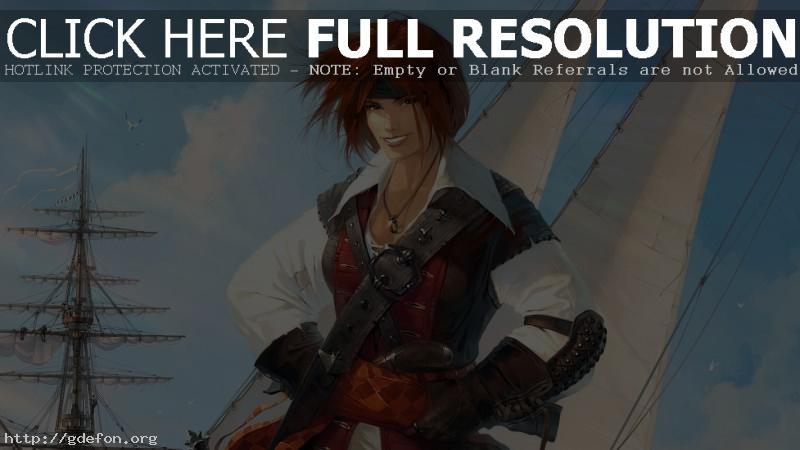 Обои Пиратка фото картики заставки