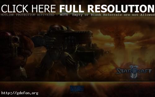 Обои Игровой StarCraft 2 фото картики заставки