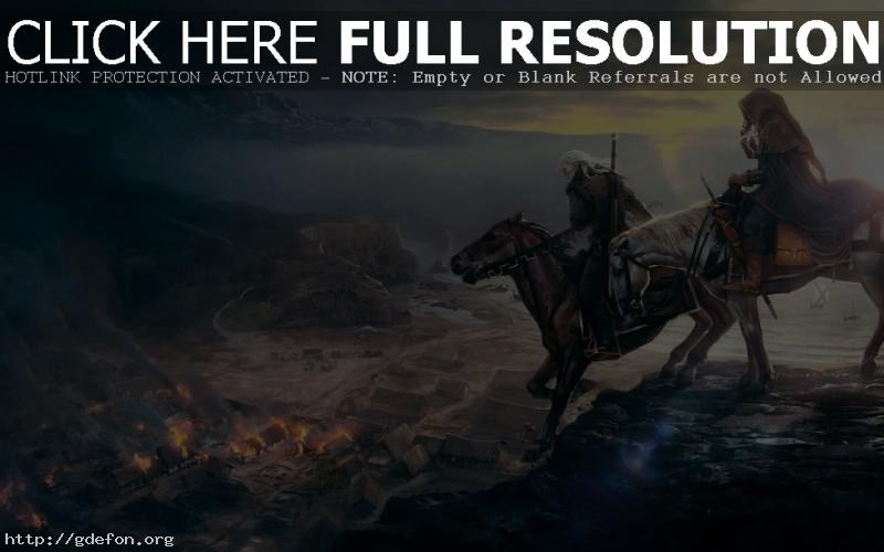 Обои Геральд на верхом на коне фото картики заставки