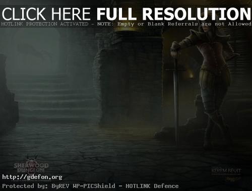 Обои Девушка воин с мечем фото картики заставки