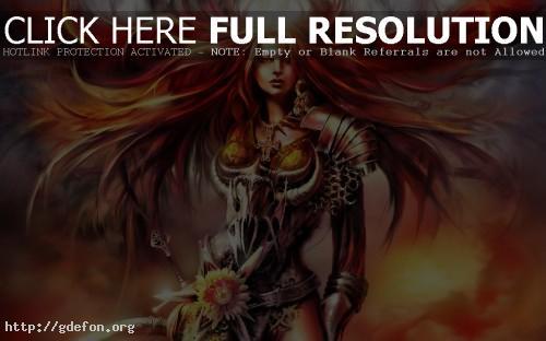 Обои Blood Magic — Красноволосая фото картики заставки