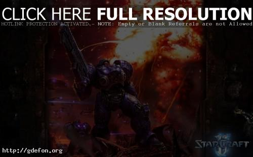 Обои StarCraft фото картики заставки