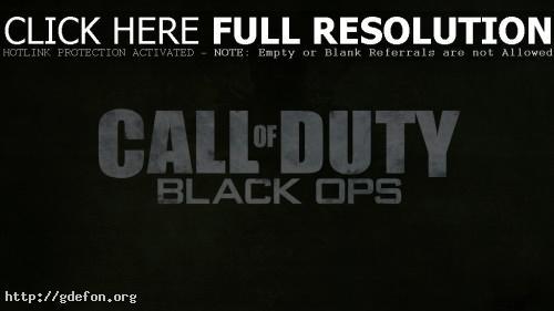 Обои Call of Duty: Black Ops фото картики заставки