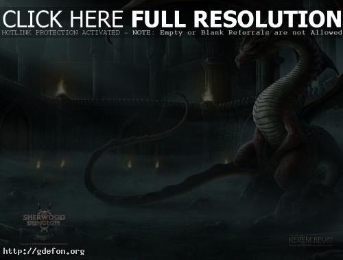 Обои Дракон в подземелье фото картики заставки