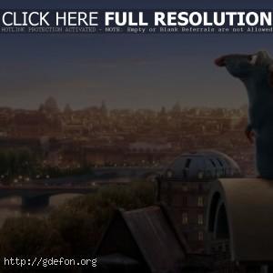 Рататуй на фоне Парижа