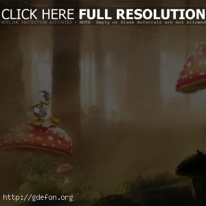 Disney, микки маус, утка, мульт, грибы