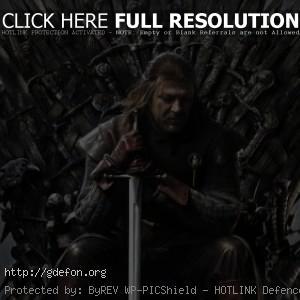 Нед Старк сидит на Железном троне