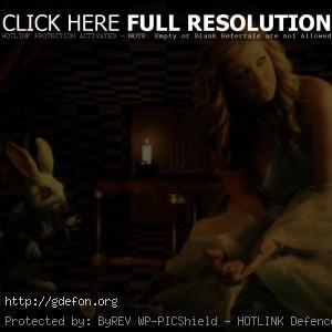 Алиса в стране чудес, кролик, часы
