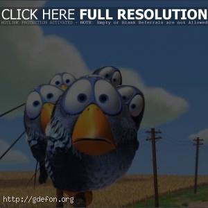 Pixar, birds, птицы, небо, облака
