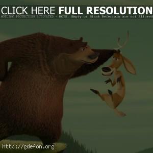 Медведь и олень