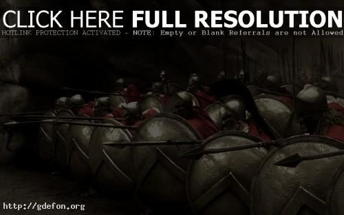Обои 300 спартанцев, копья, воины фото картики заставки