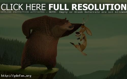 Обои Сезон охоты, медведь, олень фото картики заставки