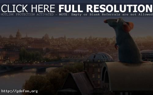 Обои Рататуй на фоне Парижа фото картики заставки