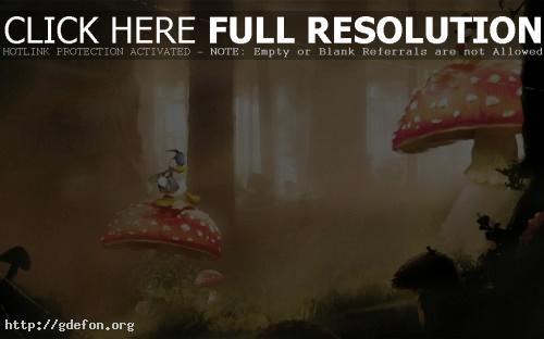 Обои Disney, микки маус, утка, мульт, грибы фото картики заставки
