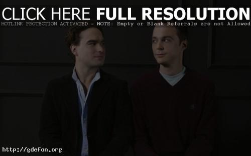 Обои Шелдон Купер и Леонард Хофстедер фото картики заставки