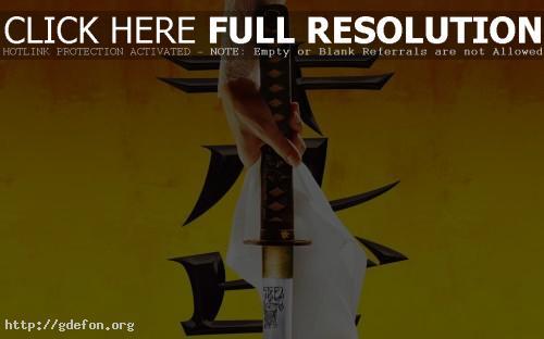 Обои Убить билла, меч, самурай, япония фото картики заставки