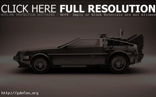 Обои DeLorean машина времени фото картики заставки