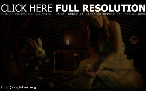 Обои Алиса в стране чудес, кролик, часы фото картики заставки