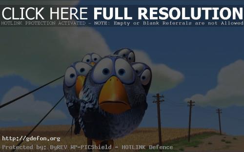 Обои Pixar, birds, птицы, небо, облака фото картики заставки