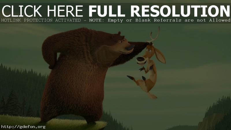 Обои Медведь и олень фото картики заставки