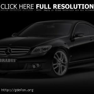 Mercedes-CLK brabus чёрный