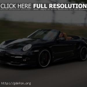 Porsche 911 Turbo Cabriolet на скорости