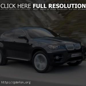 BMW X6 в движении