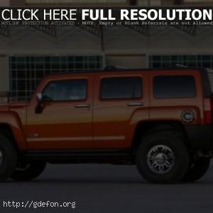 Hummer H3 оранжевый
