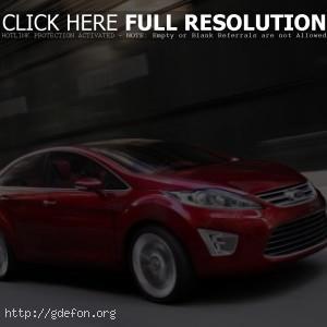 Ford Verve Sedan Concept красный