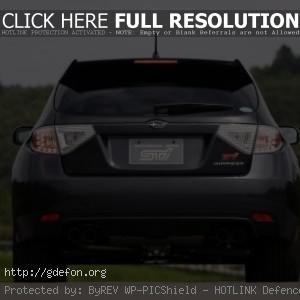 Subaru Impreza WRX STI сзади