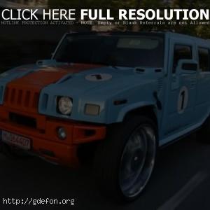 Hummer H2 голубой