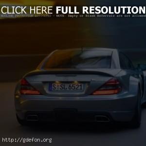 Mercedes SL65 AMG голубого цвета