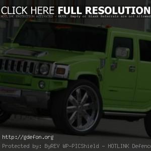 Зелёный Hummer H2