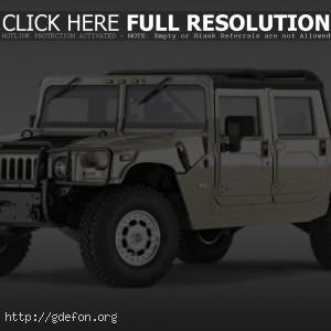 Hummer H1 серый