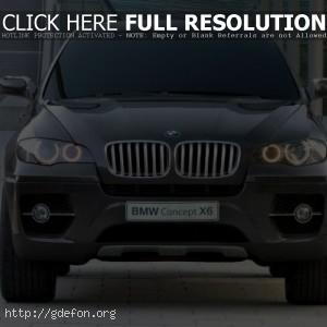 BMW X6 Concept, вид спереди