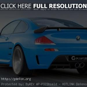 BMW M6 G-power голубой
