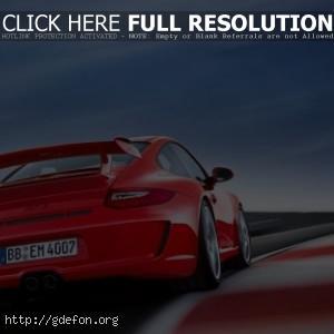 Красный Porsche GT3
