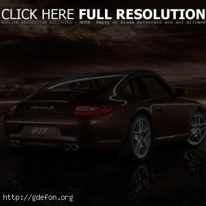 Porsche на берегу