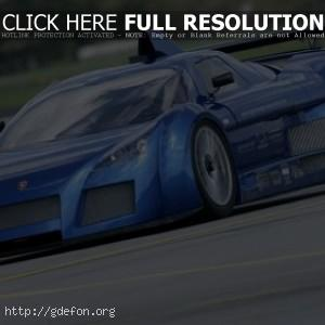 Gumpert Apollo синего цвета