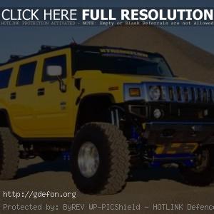 Hummer H2 жёлтый