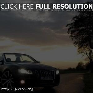 Audi на закате