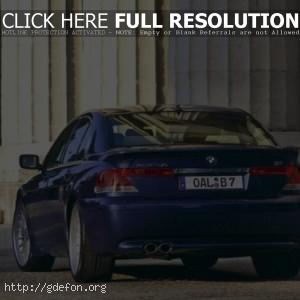 BMW 7 series, синий