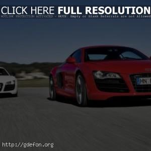 Audi красная и белая
